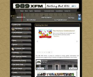 Simply Ducky Web Design: 989 XFM
