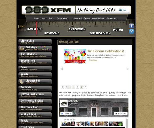 Simply Ducky Web Design: 989 XFM