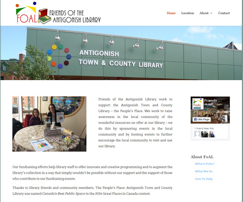 Friends Of The Antigonish Library