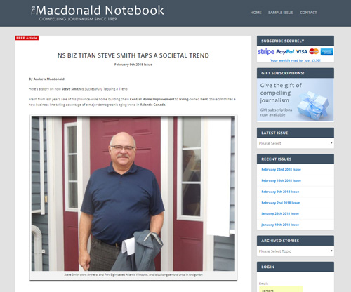 The Macdonald Notebook