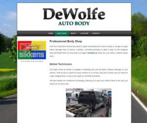 Simply Ducky Web Design: DeWolfe Auto Body