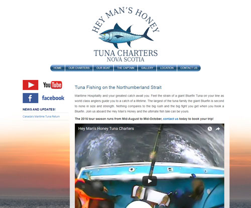 Simply Ducky Web Design: Hey Man's Honey Tuna Charters