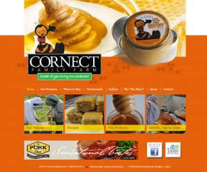 Simply Ducky Web Design: Cornect Family Farm