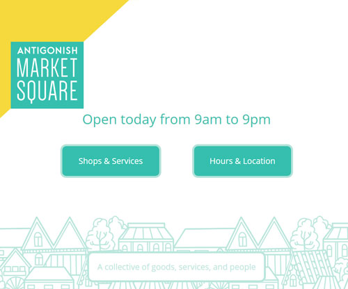 Simply Ducky Web Design: Antigonish Market Square