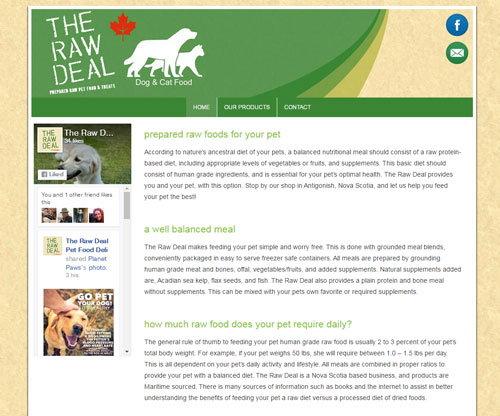 The Raw Deal Petfood
